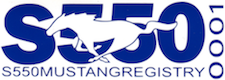 Ford Mustang S550 Registry Decal